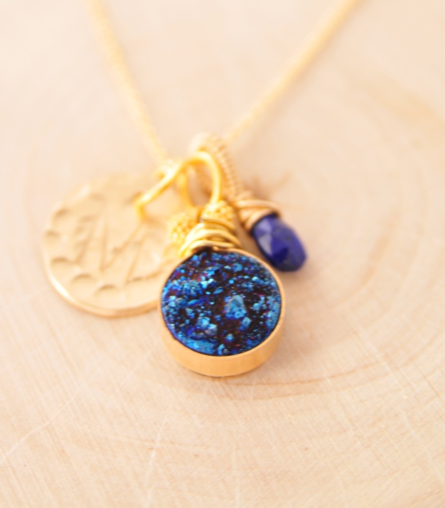 Midnight Blue Druzy Necklace