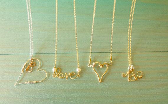 handmade love necklace