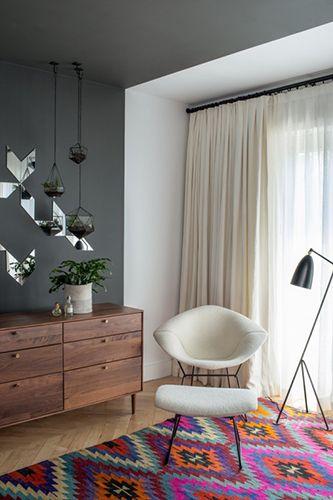dark gray walls